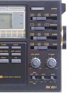Τα ραδιόφωνα με «κουμπί» BFO δέχονται σήματα C.B. με διαμόρφωση SSB.