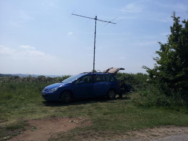 Κεραία VHF με οριζόντια πόλωση για DX-QSO.