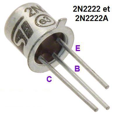 Η αντιστοιχία των ακροδεκτών του μεταλλικού 2Ν2222.